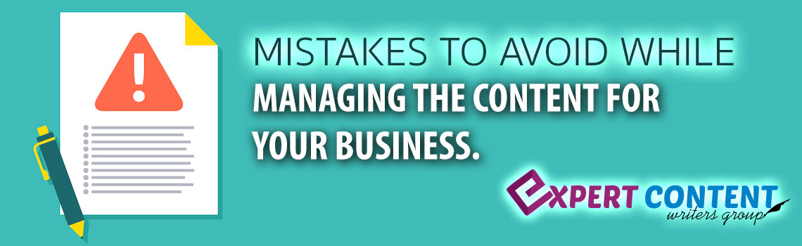 Avoid Mistakes in Content Writing